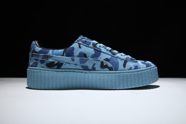 low priced 3537f 96963 Puma x Rihanna Suede Creeper - Camo Blue
