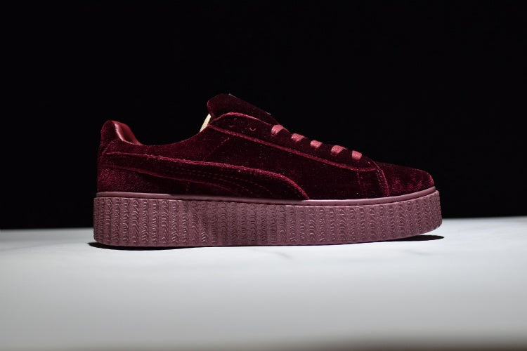 premium selection 0d98b 25061 Puma x Rihanna Suede Creeper Burgandy