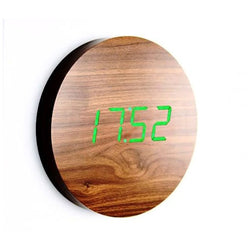 WALL CLICK CLOCK - Walnut