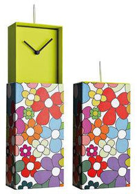 Clock In Box ساعة الحائط Flowers Wall Clocks Creativando