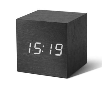 Cube Click - ساعة Digital clocks Gingko خشب أسود /أبيض