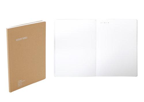 دفتر EVERYTHING PLAIN A5 Agenda Nava Design بني