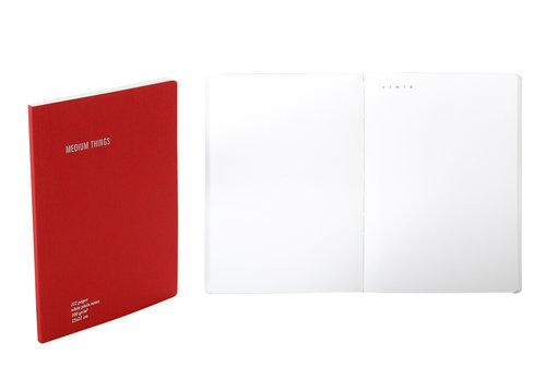دفتر EVERYTHING PLAIN A5 Agenda Nava Design أحمر
