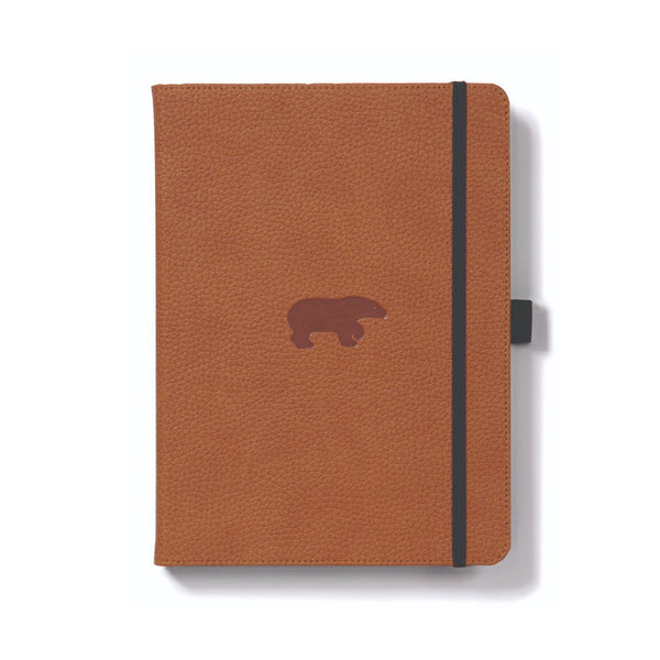 دفتر ملاحظات Dingbats Wildlife A5+ Bear - بني Notebook & Notes Dingbats
