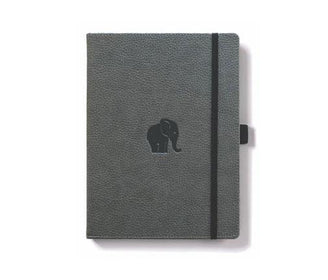 دفتر ملاحظات Dingbats Wildlife A5+ Elephant - رمادي Notebook & Notes Dingbats