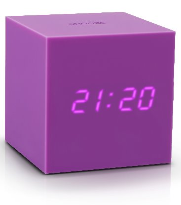 Gravity Cube Click ساعة طاولة Digital clocks Gingko بنفسجي
