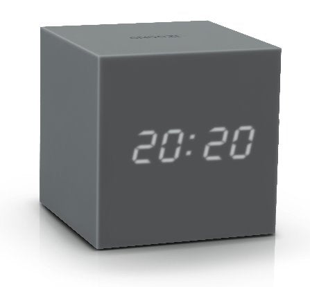 Gravity Cube Click ساعة طاولة Digital clocks Gingko رمادي