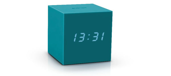Gravity Cube Click ساعة طاولة Digital clocks Gingko أزرق/أخضر