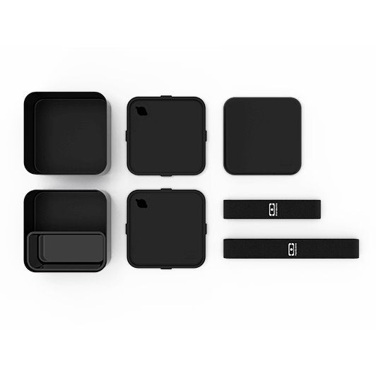 حافظة طعام MB Square Black LUNCH BOX Monbento