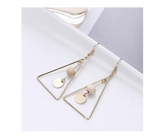 حلق TRIANGLE Earrings Thirteen Thirtyone أبيض