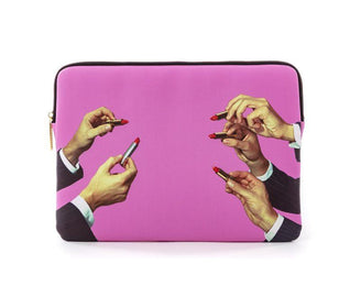 حقيبة لابتوب Lipsticks Pink Smart Devices Cases Seletti
