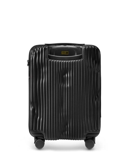 حقيبة سفر سوداء Black Stripe Travel Bags Crash Baggage