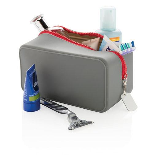 حقيبة تنظيم رمادية Silicon toiletry Organizer bag Xindao