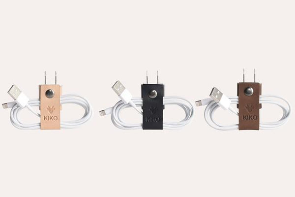 حزام حفظ كابل الشاحن The Cord-ganizer Electronic Gadgets Kiko Leather
