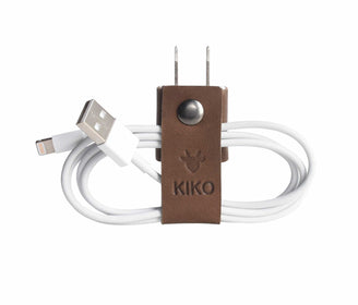 حزام حفظ كابل الشاحن The Cord-ganizer Electronic Gadgets Kiko Leather بني