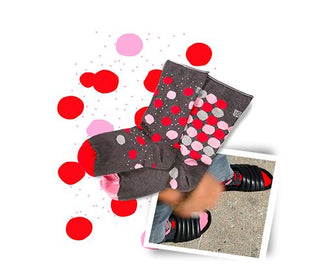 جوارب Gold Pois Red Socks Oybo