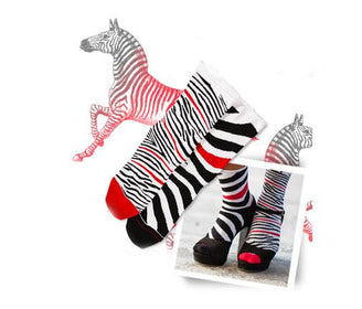 جوارب Zebra Red Socks Oybo