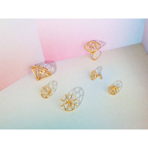 خاتم3D MYBF BRASS 3 Rings Maison 203