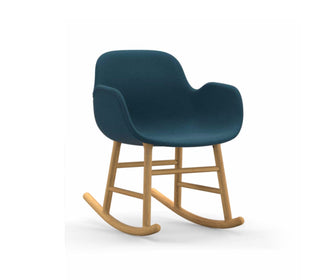 كرسي هزاز Form Rocking Full Upholstery Oak Chairs NORMANN COPENHAGEN Fame