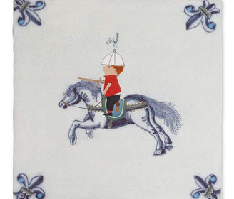 لوحة knight on horseback Art Panels Story Tiles