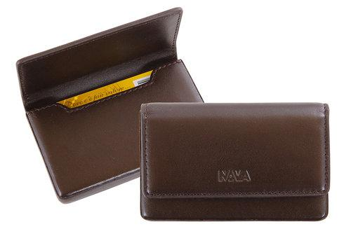 محفظة بطاقات إئتمان RIGID BUSINESS CARD HOLDER Wallets Nava Design بني