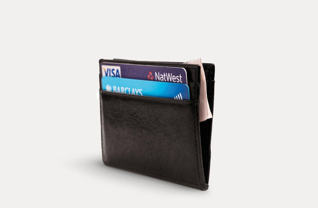 محفظة Ebony 4Card بلون أسود Wallets Nodus