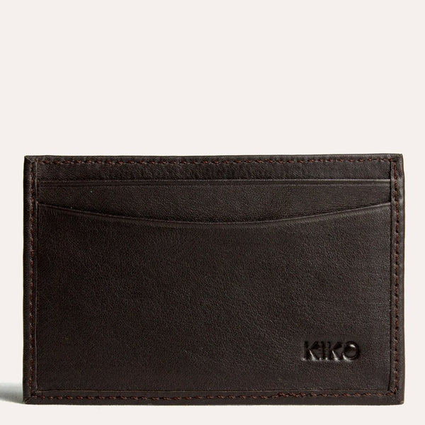محفظة البطاقات Classic Card Case Wallets Kiko Leather البني