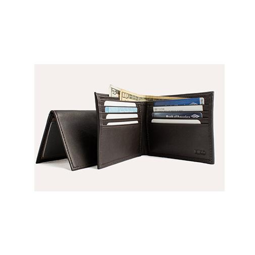 محفظة النقود Traditional Bifold Wallets Kiko Leather البني