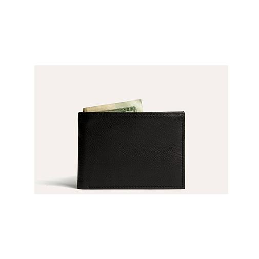 محفظة النقود Traditional Bifold Wallets Kiko Leather الأسود