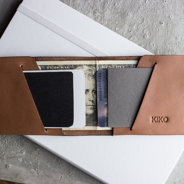 محفظة النقود Unstitched Leather Billfold Wallets Kiko Leather