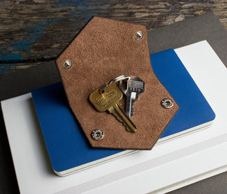 محفظة مفاتيح Leather Key Case Key Ring Kiko Leather
