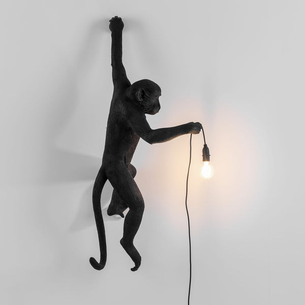 مصباح The Monkey Hanging Version Wall lamp Seletti أسود