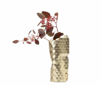 مزهرية Paper Vase Cover Gold (small)