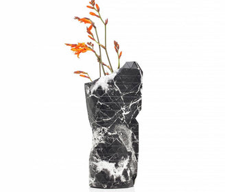 مزهرية Paper Vase Cover Marble Black (small)