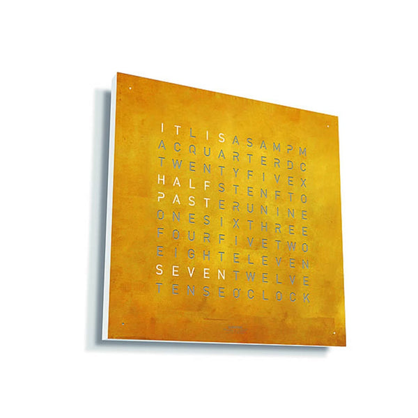 ساعة حائط QLOCKTWO® CLASSIC CREATOR'S EDITION - Gold Wall Clocks Qlocktwo
