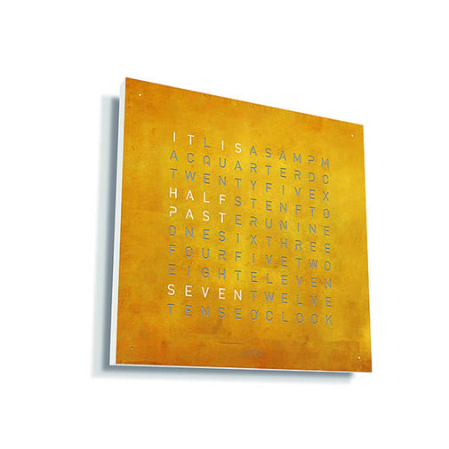 ساعة حائط QLOCKTWO® CLASSIC CREATOR'S EDITION - Gold Wall Clocks Qlocktwo انجليزي