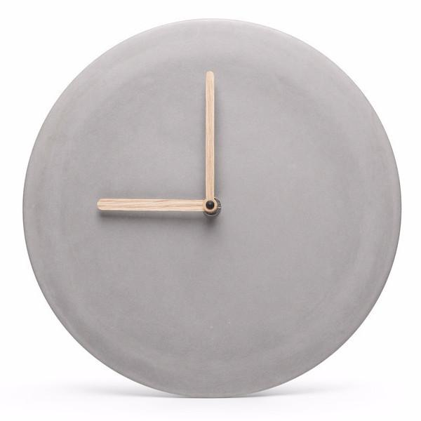 ساعة الحائط Concrete Wall Clocks Soon Salon ناعمه