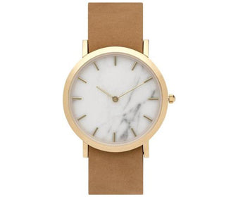 ساعة اليد الرخامية WHITE MARBLE CLASSIC WATCH - جملي Watches ANALOG WATCHES Default Title