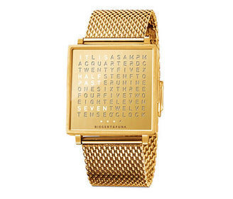 ساعة اليد QLOCKTWO® W35 - Golden Words Watches Qlocktwo انجليزي