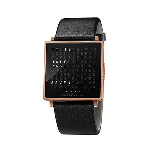 ساعة اليد QLOCKTWO® W35 - Rose Gold Watches Qlocktwo انجليزي