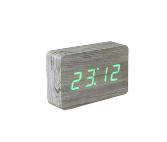 ساعة منبه BRICK ASH CLICK CLOCK / GREEN LED Alarm Clock Gingko