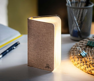 Smart Booklight Mini - Linen fabric Browne مصباح Reading Lamp Gingko