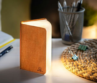 Smart Booklight Mini - Linen fabric Orange مصباح Reading Lamp Gingko