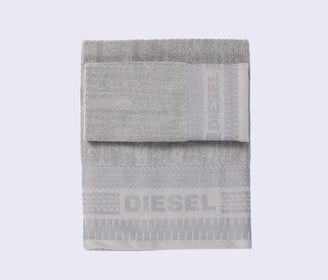 طقم مناشف إستحمام SOLID Set guest + hand towel Bath Towel Diesel رمادي