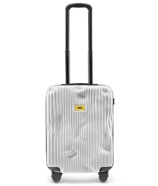 White Stripe حقيبة سفر بيضاء Travel Bags Crash Baggage