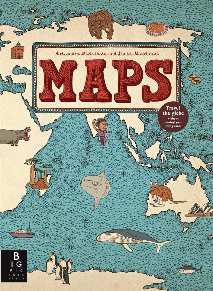 Maps by by Aleksandra Mizielinska and Daniel Mizielinski - Reviewed by Caroline Ewans, The Wimbeldon Story Pot
