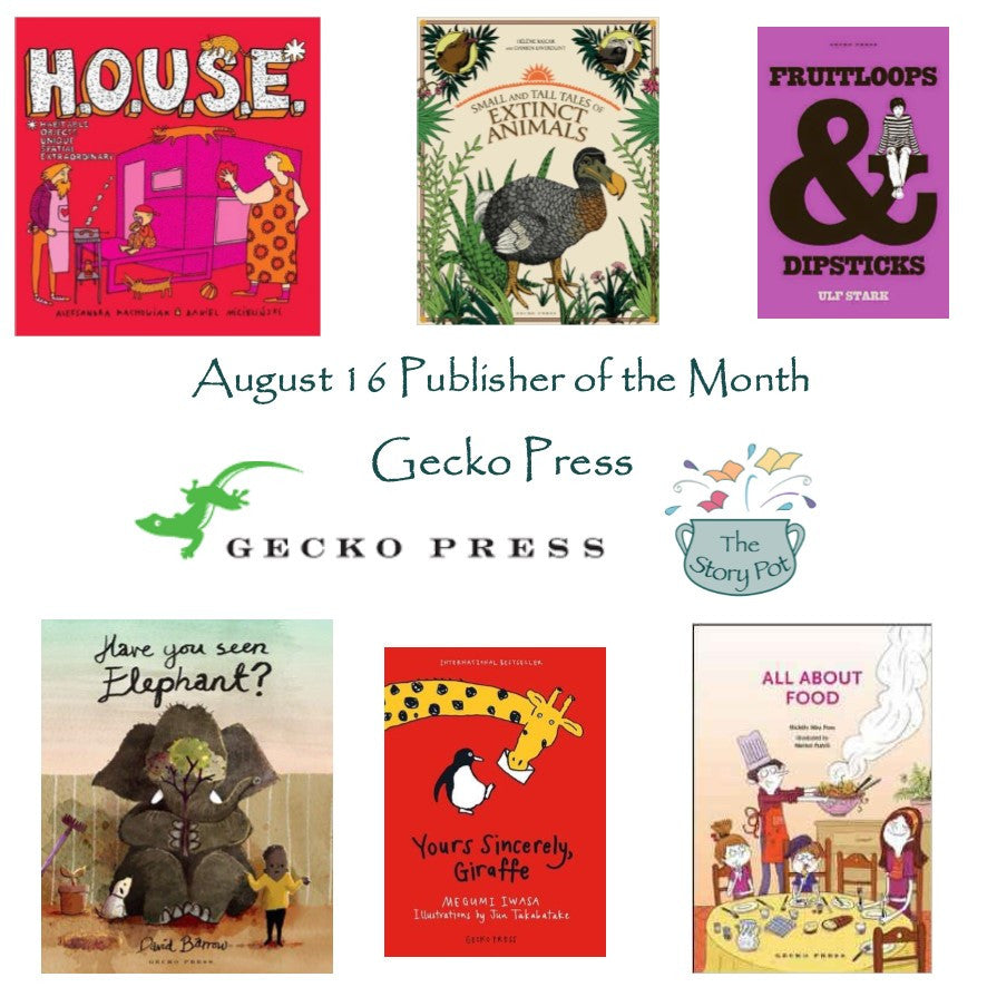Gecko Press - August Publisher of the Month