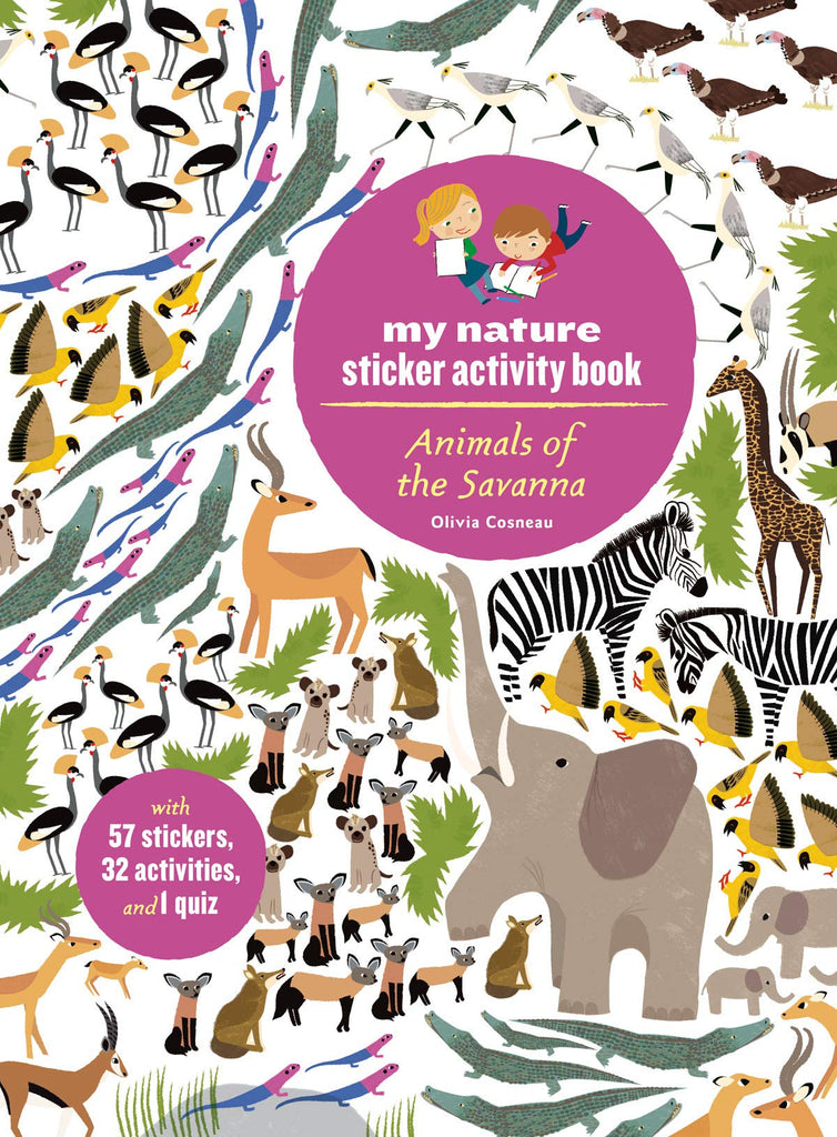 Animals of the Savannah - My Nature Sticker Activity Book