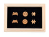 GAME LOVER WOODEN STUD EARRING SET: 3 Unique Designs with a Beautiful Wood Box - Miss Grandeur