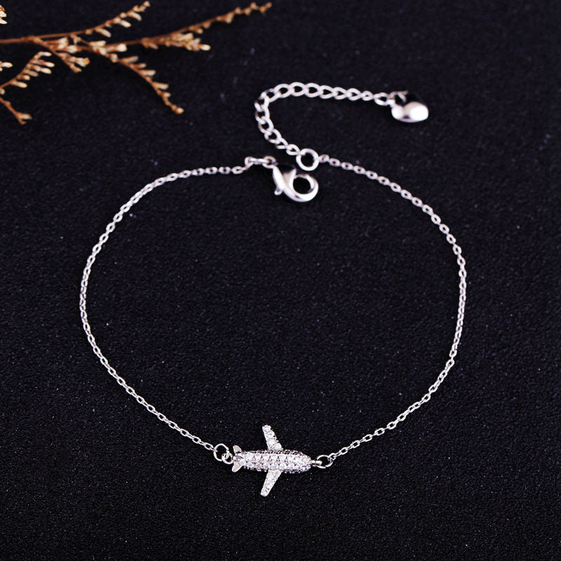 Crystal Airplane Bracelet